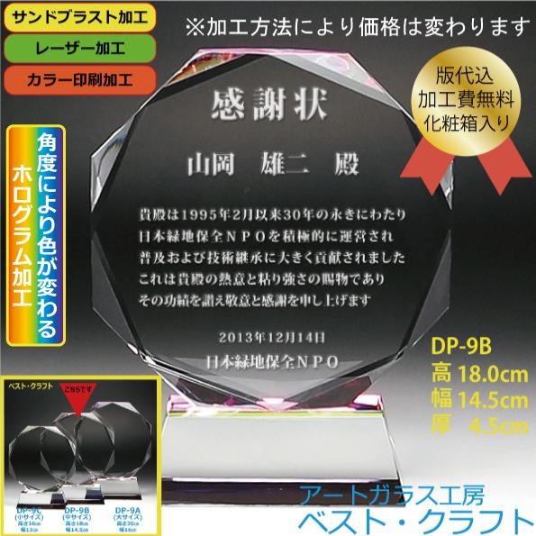 クリスタル盾 DP-9B(中)