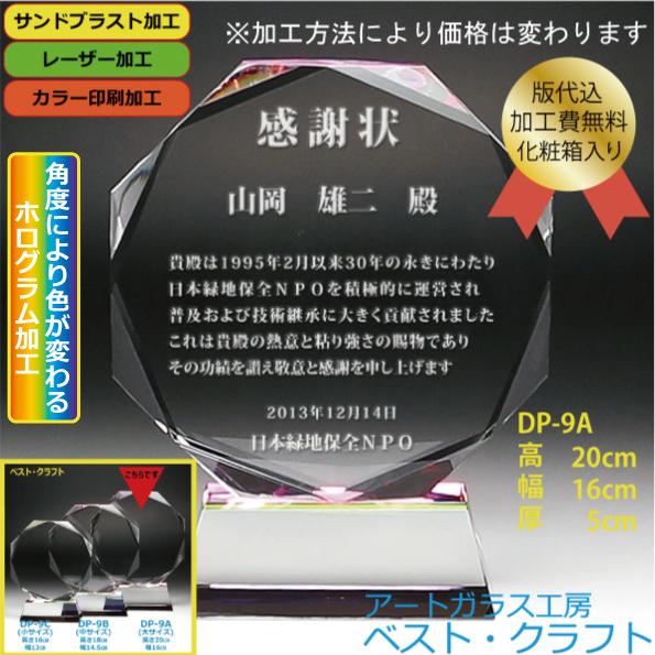 クリスタル盾 DP-9A(大)