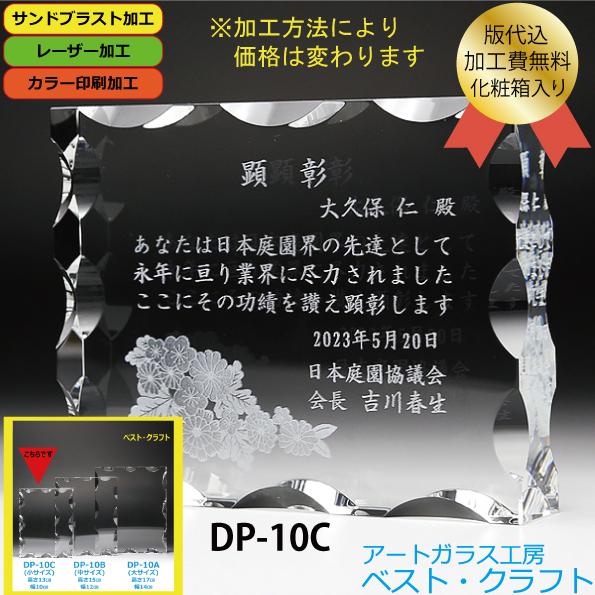 クリスタル盾 DP-10C(小)