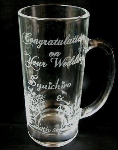 結婚のお祝いに…ビールジョッキ(360ml)