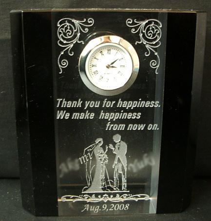 結婚のお祝い・両親への記念品に・・・