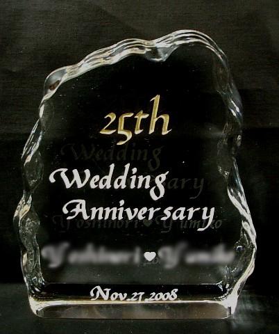 金婚式・銀婚式・結婚記念日などにクリスタル製のオーナメント