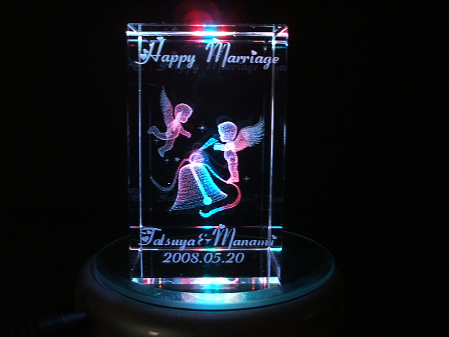 結婚のお祝いにベルと天使の3D(8cm)