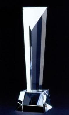 トライアングル 27cm クリスタルトロフィー