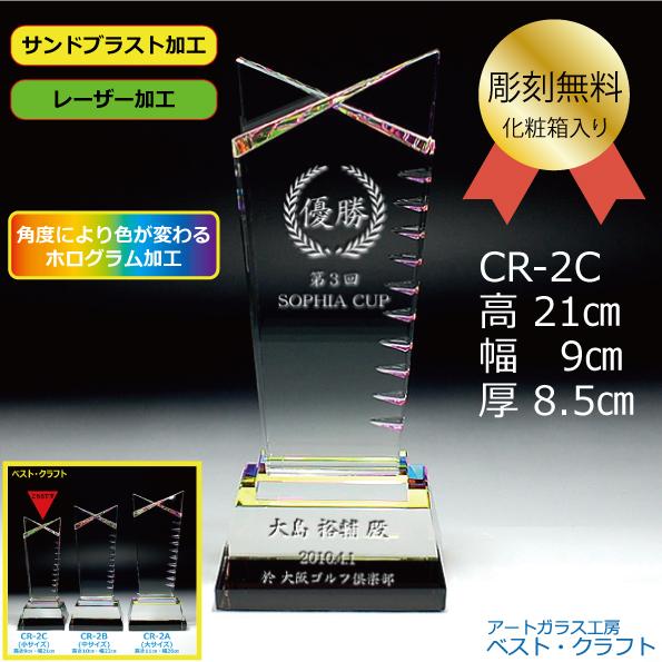 クリスタルトロフィー CR-2C 21cm