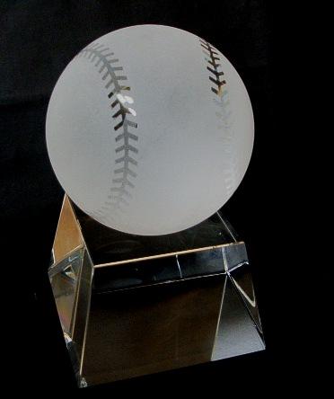 野球(サッカー)(地球儀)ボール・台座付 約13センチ