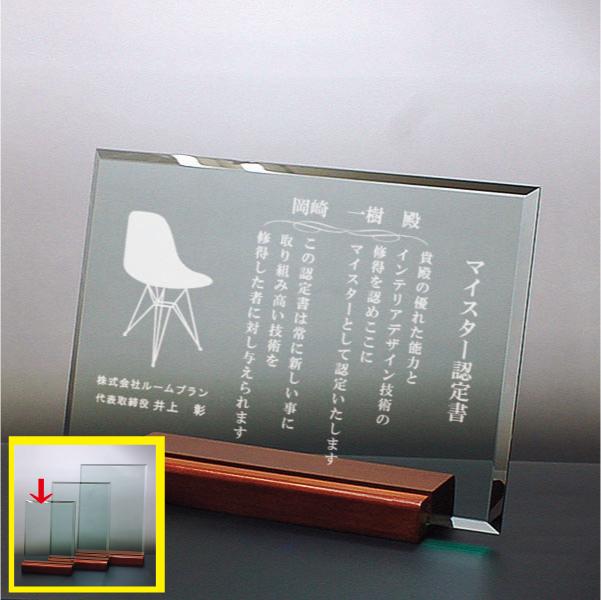 ガラス盾 DSP-2C(小)