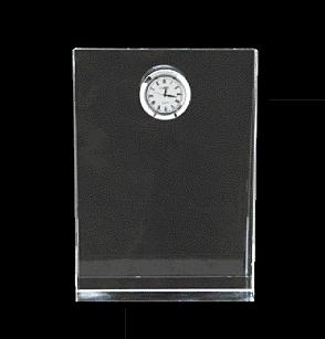 クリスタル盾 時計付楯 18cm