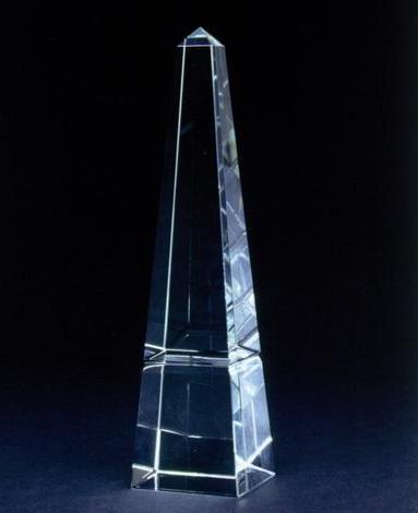 オベリスク 25cm クリスタルトロフィー