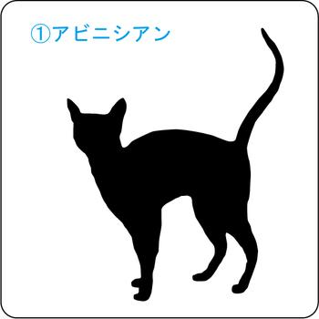 ネコのシルエット…1