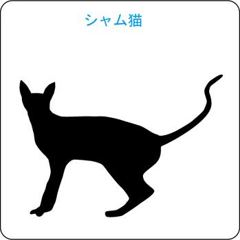 ネコのシルエット…5