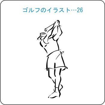 ゴルフのイラスト(26)
