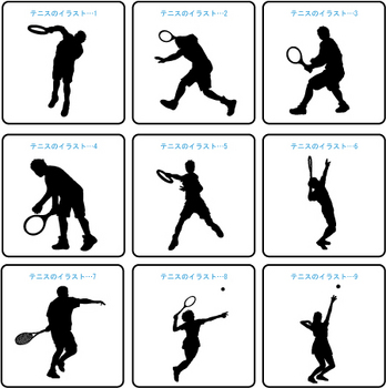 テニス・バドミントンのイラスト